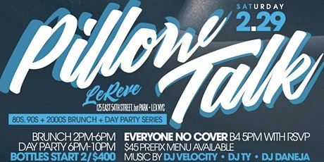 Pillow Talk, 2hr Bottomless Brunch + Day Party, Bdays Celebrate Free tickets