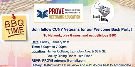 CUNY Veterans Welcome Back Party hosted by PROVE @ Hunter tickets
