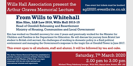 Wills Hall Association | Arthur Graves Memorial Lecture 2020