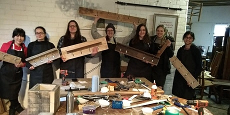 Making Coat Racks with Girls with Drills tickets