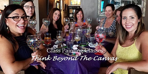 New Class! Join us for our Wine Glass Painting Couples Party at 19th Hole Bar and Grill 2/19 @ 6pm
