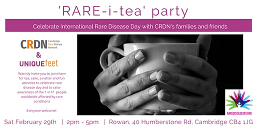Cambridge Rare Disease Day Rare-i-Tea Party