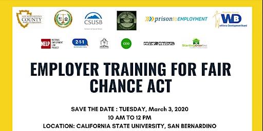 Fair Chance Act: Employer Training