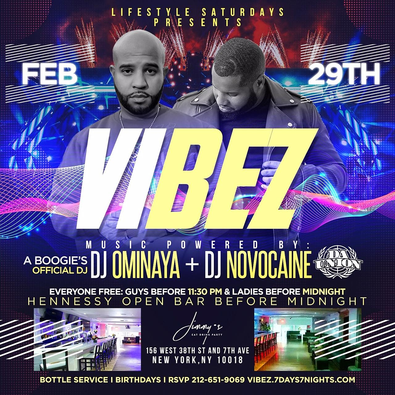 Lifestyle Saturdays Present Vibez | Open Bar + Free Entry W/RSVP