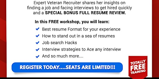 FREE Job Search & Resume Review Workshop