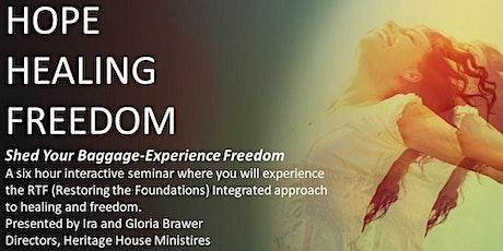 Hope, Healing and Freedom Seminar billets