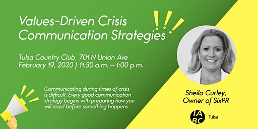 Values-Driven Crisis Communication Strategies