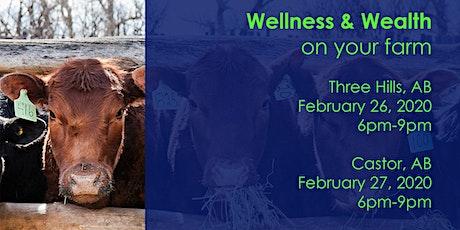 Wellness & Wealth on your farm tickets