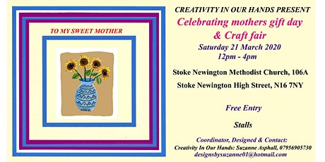 Celebrating mothers gift day & craft fair tickets