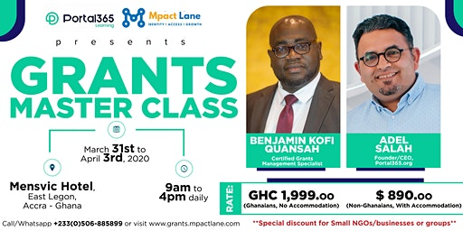 GRANTS MASTER CLASS