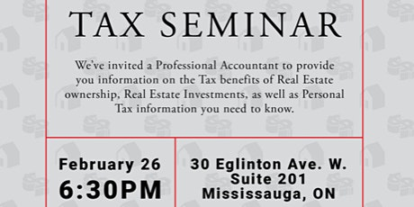TAX SEMINAR tickets