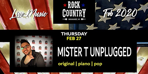 Mister T (original piano pop) at Rock Country!