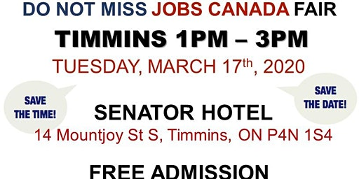 Timmins Job Fair - March 17th, 2020