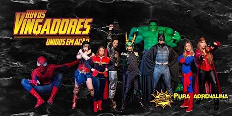 Desconto para Carnaval com Super-Heróis: espetáculo Novos Vingadores Unidos em Ação no Teatro BTC ingressos