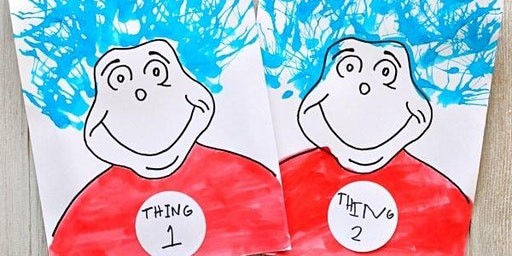 Dr. Seuss Thing 1 & 2 Blow Painting