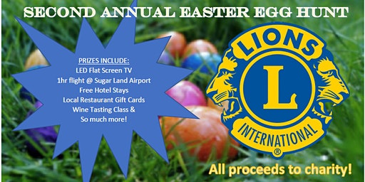 Fun for Kids and Adults - Sugar Land Lions Club Annual Easter Egg Hunt