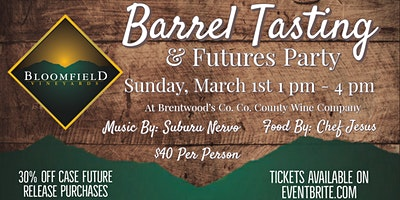 Barrel Tastings & Futures Party