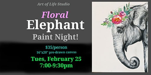Paint Night: Floral Elephant