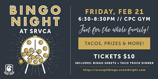 SRVCA Family Bingo Night