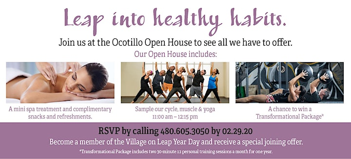 Take the Leap Open House at Ocotillo Village image
