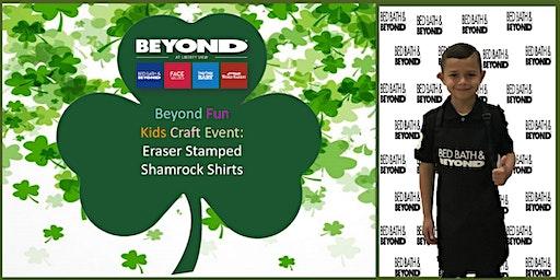 Beyond Fun Kids Craft Event-Eraser Stamped Shamrock Shirts
