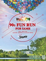 90s Fun Run in partnership with the Scottish Association for Mental Health