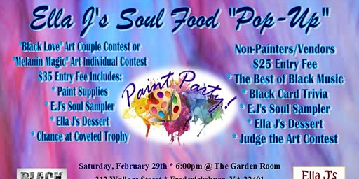 Pop-Up Paint Party & Food Tasting
