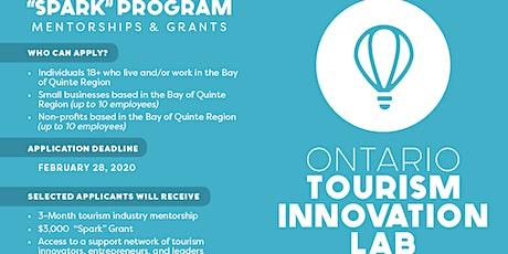"""Spark"" Tourism Program Launch - Bay of Quinte + Ontario Tourism Innovation tickets"