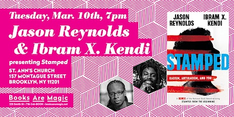 Jason Reynolds & Ibram X. Kendi: Stamped: Racism, Antiracism, and You tickets