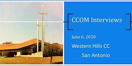San Antonio CCOM Interviews tickets