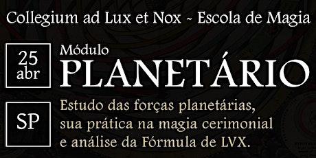 [SP] Curso de LVX - Módulo Planetário ingressos