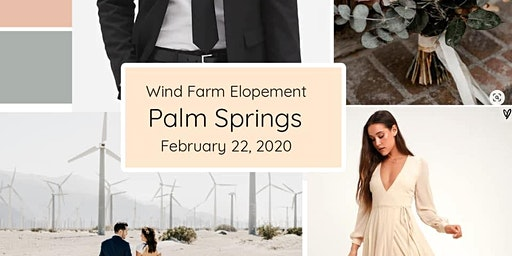 Palm Springs Windmill Farm Styled Elopement