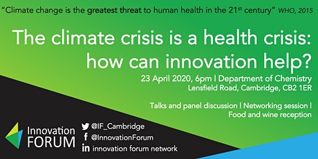 The climate crisis is a health crisis: how can innovation help? tickets