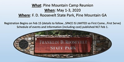 Pine Mountain Camp Reunion
