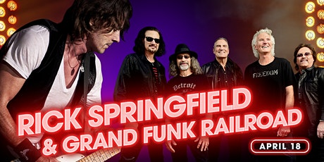 Rick Springfield & Grand Funk Railroad tickets
