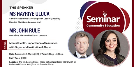 Mental Health, Importance of Insurance within Super and Institutional Abuse tickets