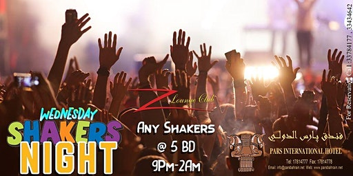 Shakers Night - Wednesday at Z Lounge Club