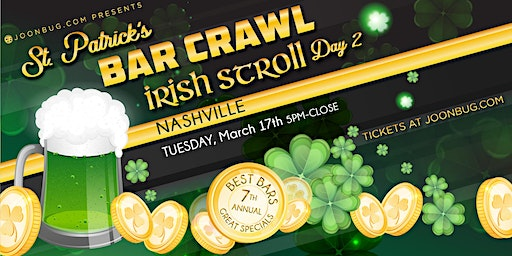 Barcrawls.com Presents Nashville St. Patrick's Day Bar Crawl