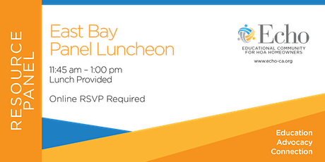 East Bay Resource Panel Luncheon tickets