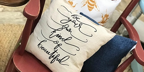 Thrifty Thursday: DIY Canvas Pillow tickets