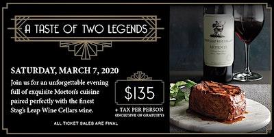 A Taste of Two Legends-Morton's Saratoga Springs NY