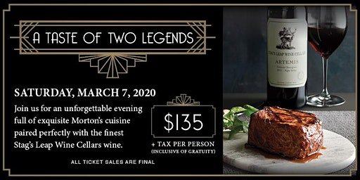 A Taste of Two Legends-Morton's Saratoga Springs NY