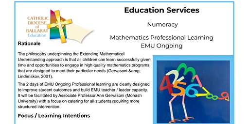 Mathematics Professional Learning EMU Ongoing