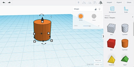 Intro to Design for the 3D-Printer: TinkerCad tickets