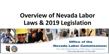 The Business Edge™ - Overview of NV Labor Laws & New 2019 Legislation tickets