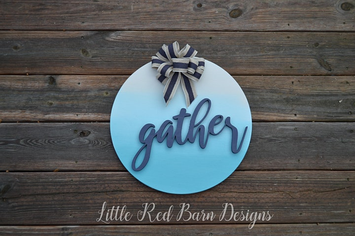 Beautiful Round Sign- Learn a gradient painting technique called Ombre image