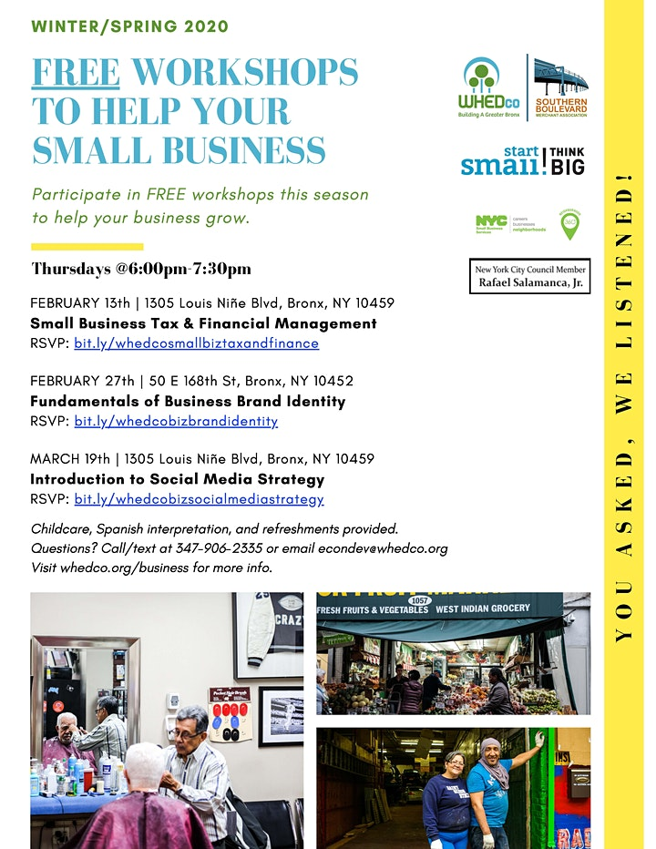 WHEDco x Start Small: Small Business Tax & Financial Management Workshop image