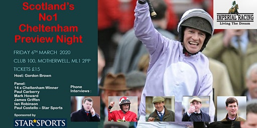 Scotands No1 Cheltenham Preview Night