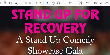 Stand Up for Recovery tickets