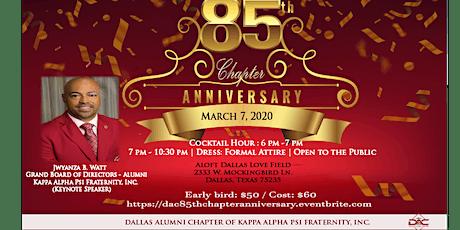 85th Chapter Anniversary - Dallas Alumni Chapter of Kappa Alpha Psi tickets